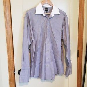 Jos. A. Bank Shirts - Men's Jos.A.Bank white collar grey dress shirt
